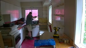 2 years ago - Project started with the deconstruction of the kitchen