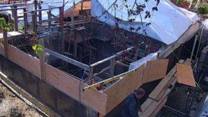 6 months ago - 1st Storey floor assembly on, forming garage suspended floor slab