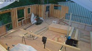 I only have the second half of the north wall and the two east walls to finish of all of the second level exterior walls.