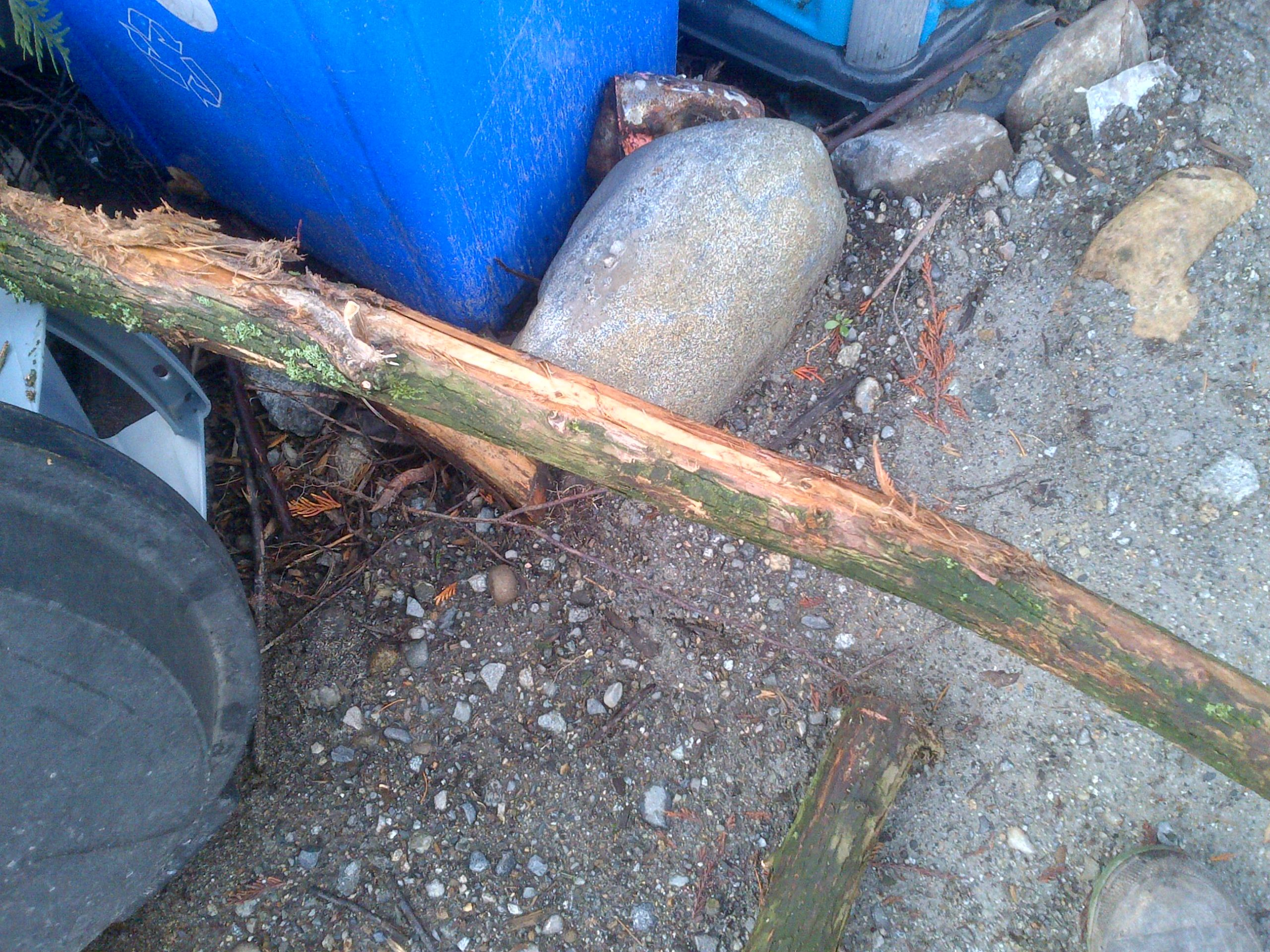 Cable was cutting into branch along its length attributing to huge resistance in cable movement.