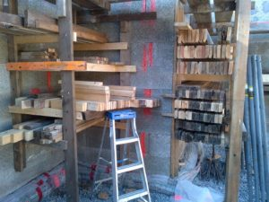 All my forming wood is stacked away ready for the next use.