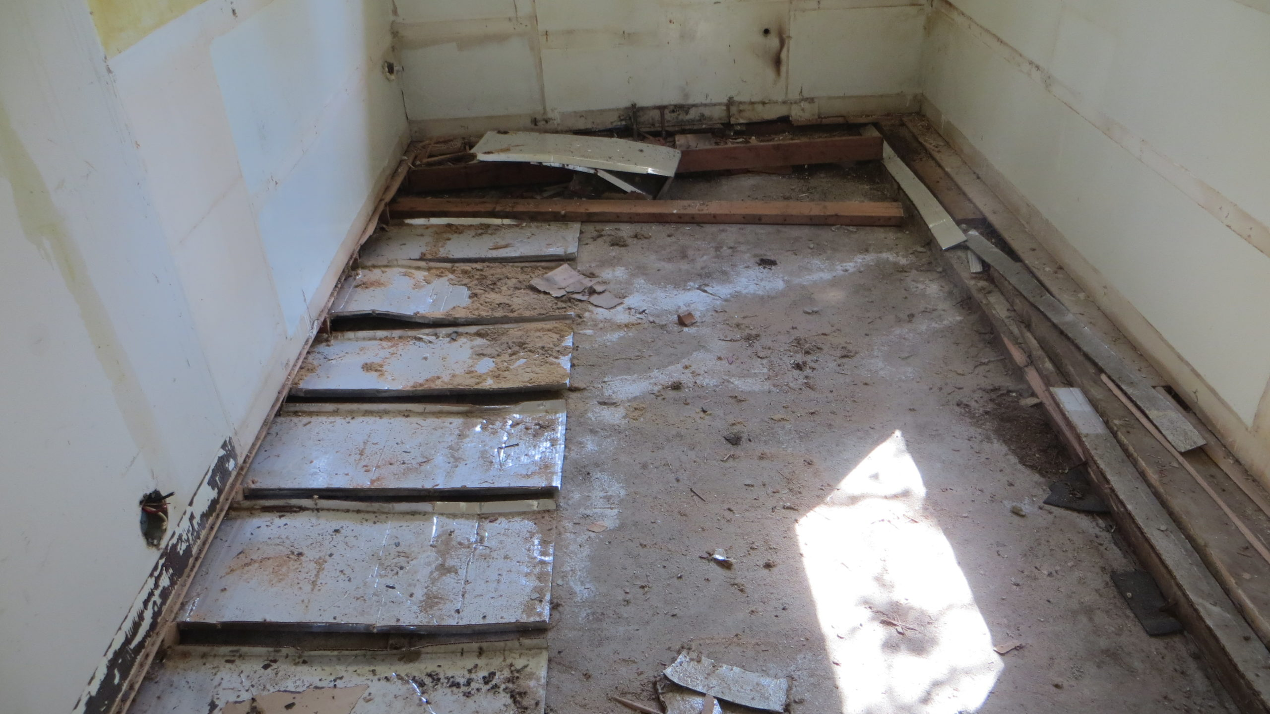 Sub-floor removed - just some cleanup remains