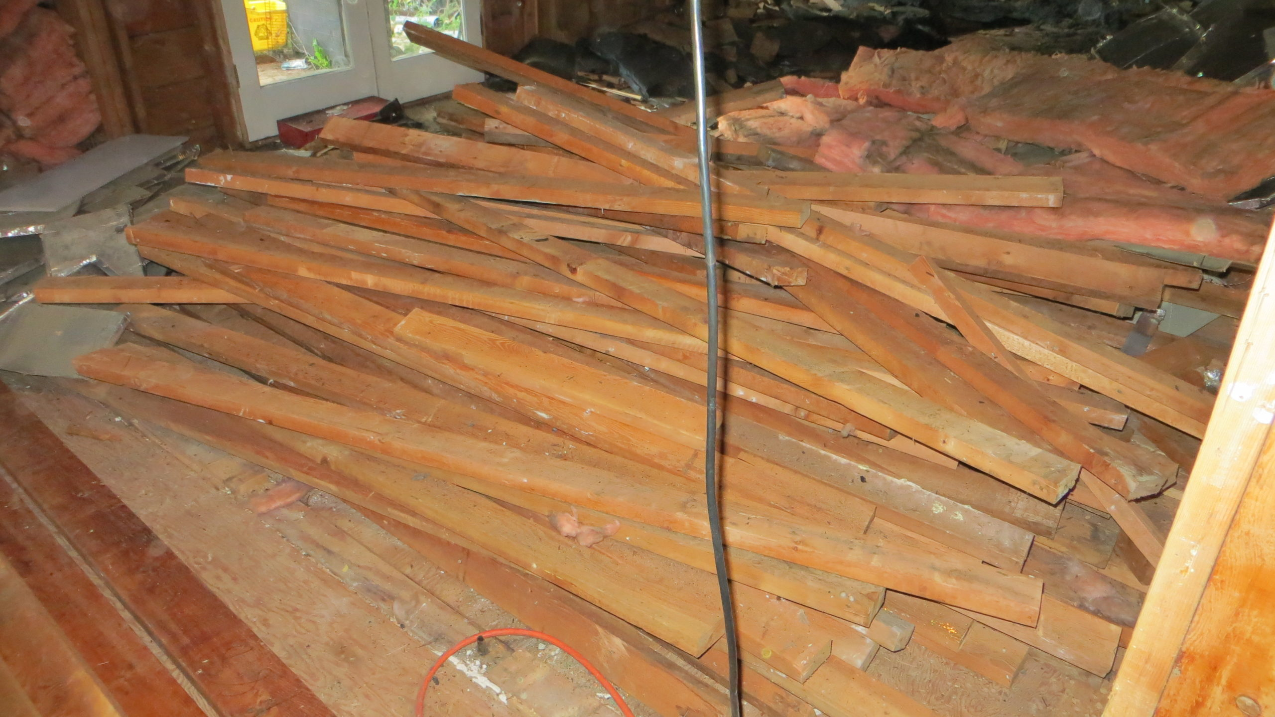 Current Pile of Salvaged 2x4's