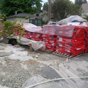 Shipment of ROCKWOOL for the exterior foundation insulation.