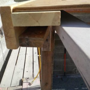 quick construction of 2x4's, 2x8's and plywood