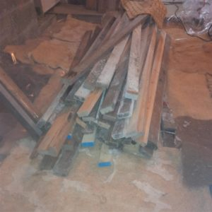 I still have to build shelves to support this remaining salvaged lumber that was last used for scaffolding