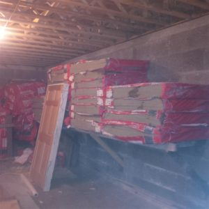 Shelving Section 3 - Supporting Stockpiled ROCKWOOL