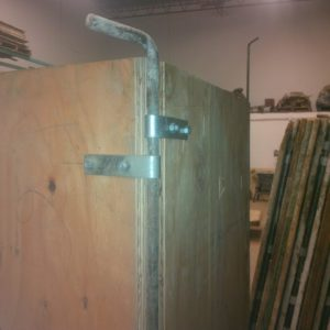 A rented option for forms, but this would make lining up ties a bit more difficult.  I should have discussed it with form vendor and then devised a similar method of doing this myself that was better than the chunks of 2x4 I used to try and tie the two walls together.