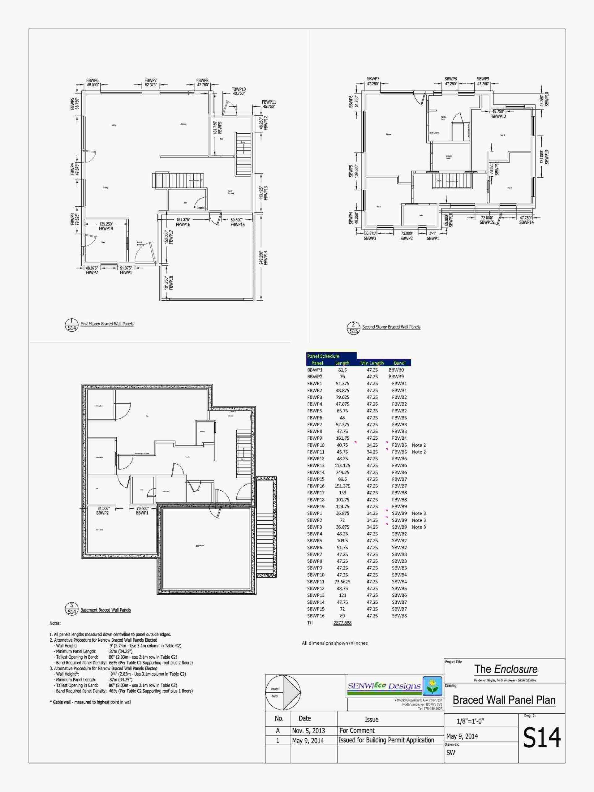 S14 - Braced Wall Panel Plan 001