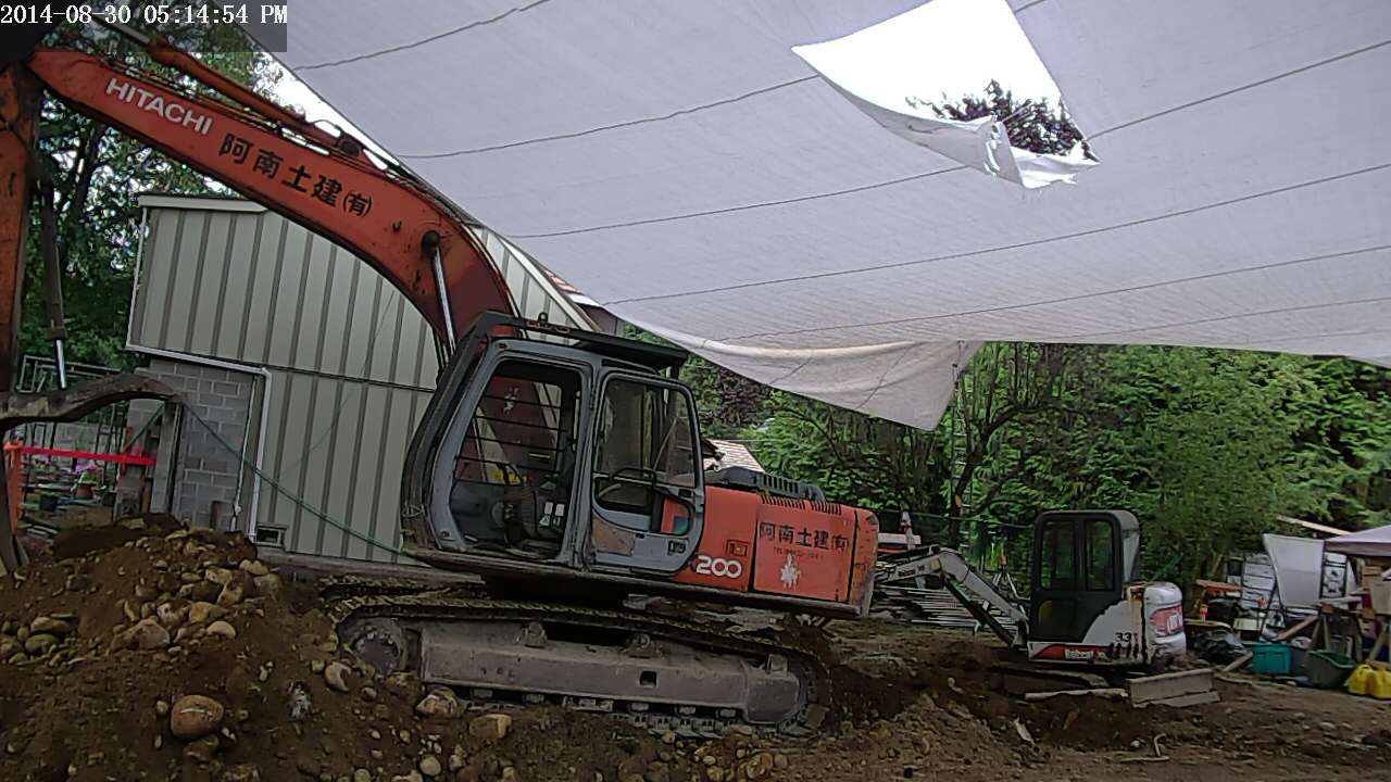 Gaping hole in tarp