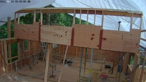 Clerestory wall will provide tons of sunlight to north half of house